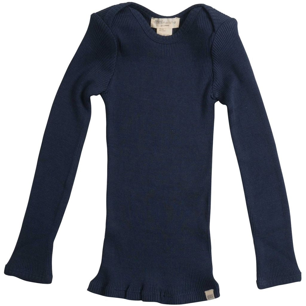 Blouse babies wear organic sustainable luxurious fashion children clothes silk seamless merino wool natural design nordic minimalisma shop sale Belfast Dark Blue--14494934040649,14494934073417,14494934106185,14494934302793