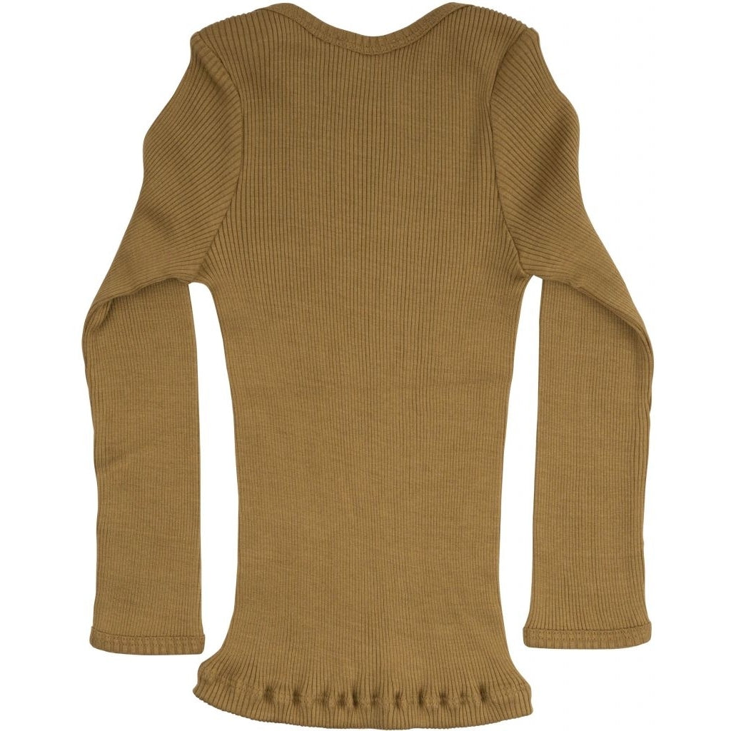Blouse babies wear organic sustainable luxurious fashion children clothes silk seamless merino wool natural design nordic minimalisma shop sale Belfast Golden Leaf