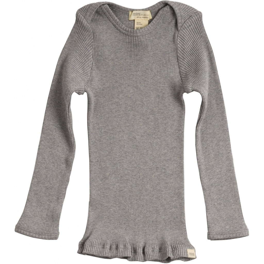 Blouse babies wear organic sustainable luxurious fashion children clothes silk seamless merino wool natural design nordic minimalisma shop sale Belfast Grey Melange--31768082251857,31768082284625,31768082317393,31768082350161