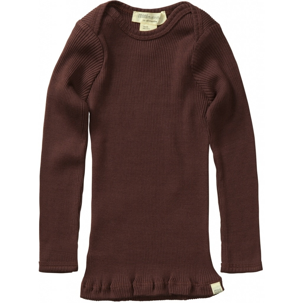 Blouse babies wear organic sustainable luxurious fashion children clothes silk seamless merino wool natural design nordic minimalisma shop sale Belfast Antique Red