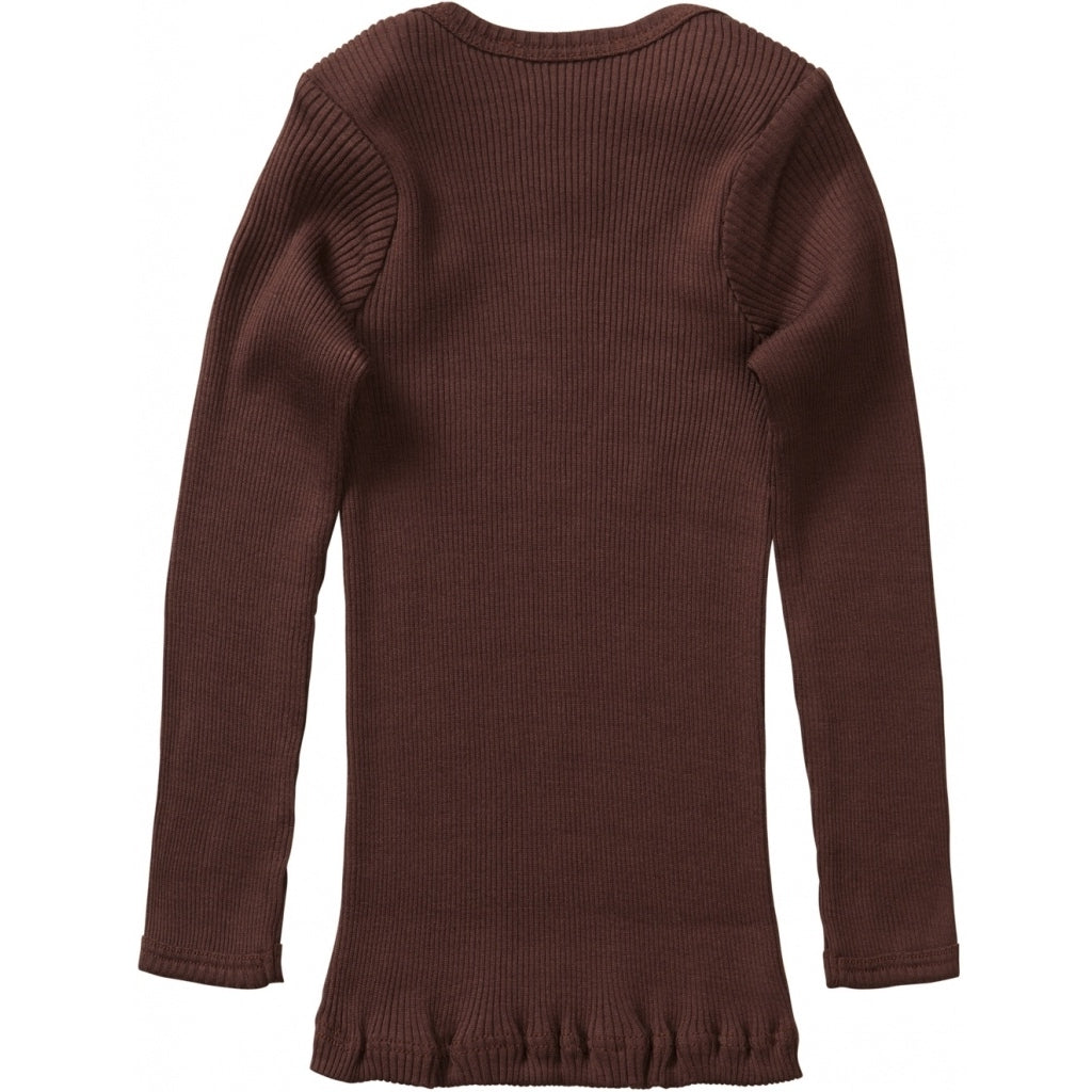 Blouse babies wear organic sustainable luxurious fashion children clothes silk seamless merino wool natural design nordic minimalisma shop sale Belfast Mahogany