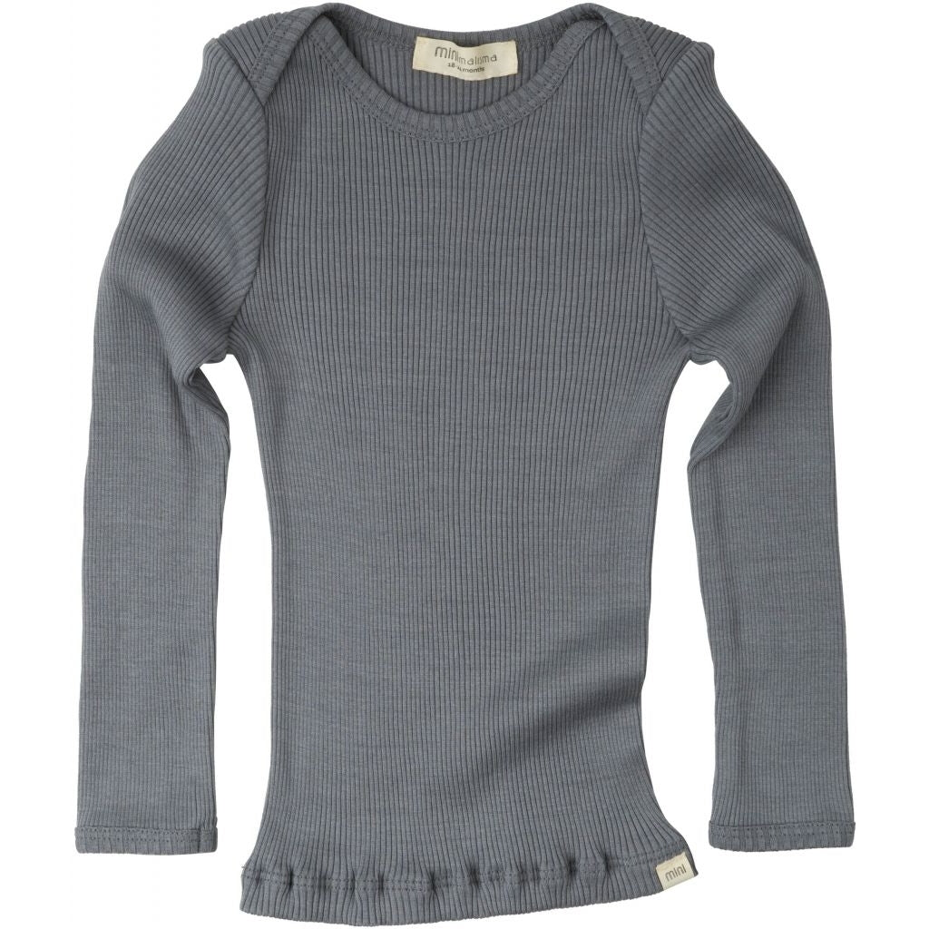 Blouse babies wear organic sustainable luxurious fashion children clothes silk seamless merino wool natural design nordic minimalisma shop sale Belfast Dark Grey