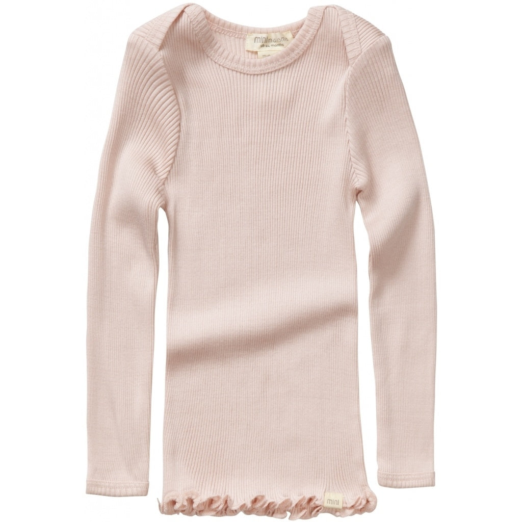 Blouse babies wear organic sustainable luxurious fashion children clothes silk seamless merino wool natural design nordic minimalisma shop sale Belfast Sweet Rose