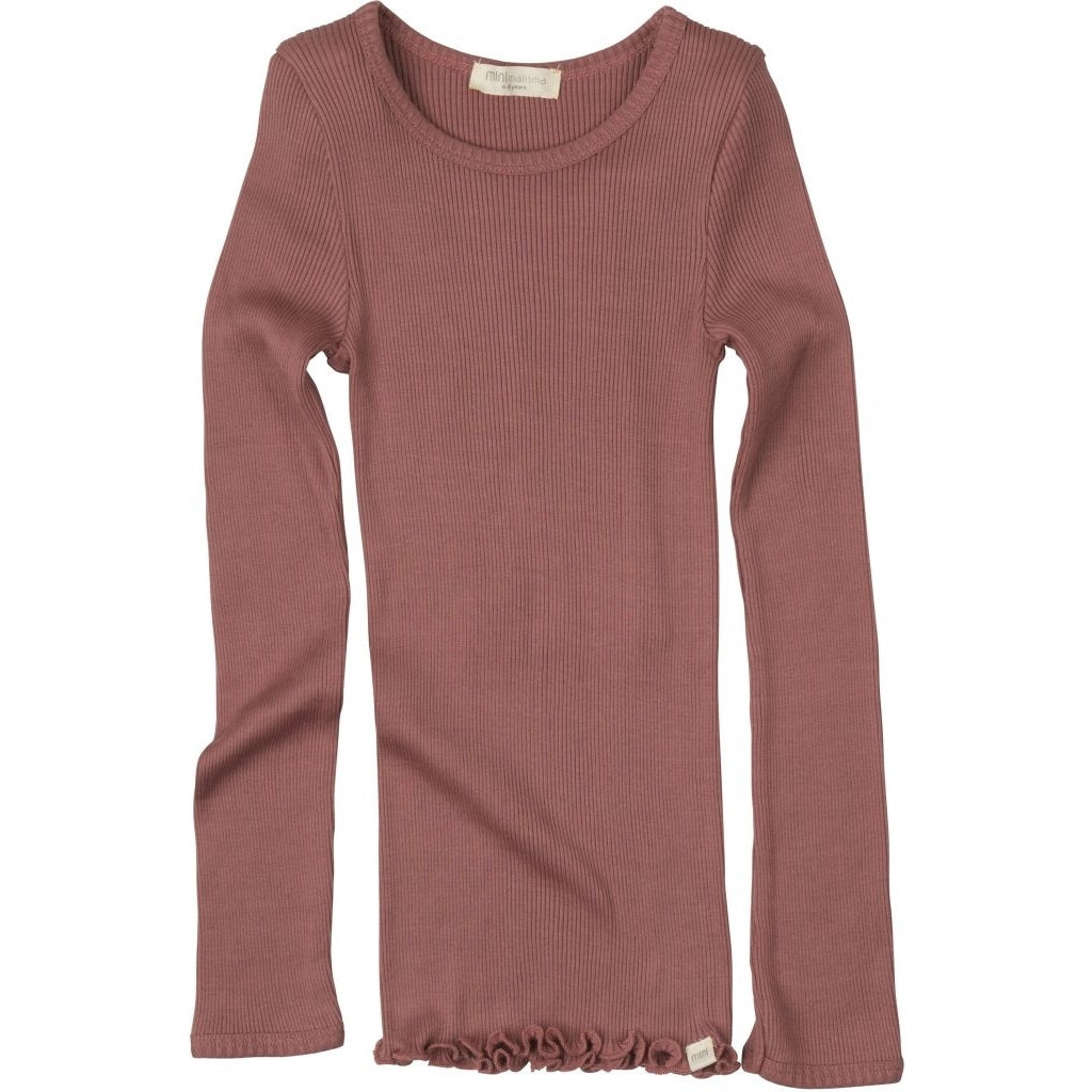 Blouse babies wear organic sustainable luxurious fashion children clothes silk seamless merino wool natural design nordic minimalisma shop sale Bergen 2-6Y Antique Red