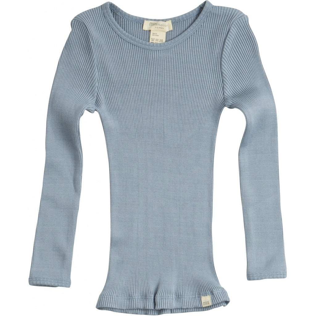 Blouse babies wear organic sustainable luxurious fashion children clothes silk seamless merino wool natural design nordic minimalisma shop sale Bergen 2-6Y Clear Blue--31768065212497,31768065245265,31768065278033,31768065310801