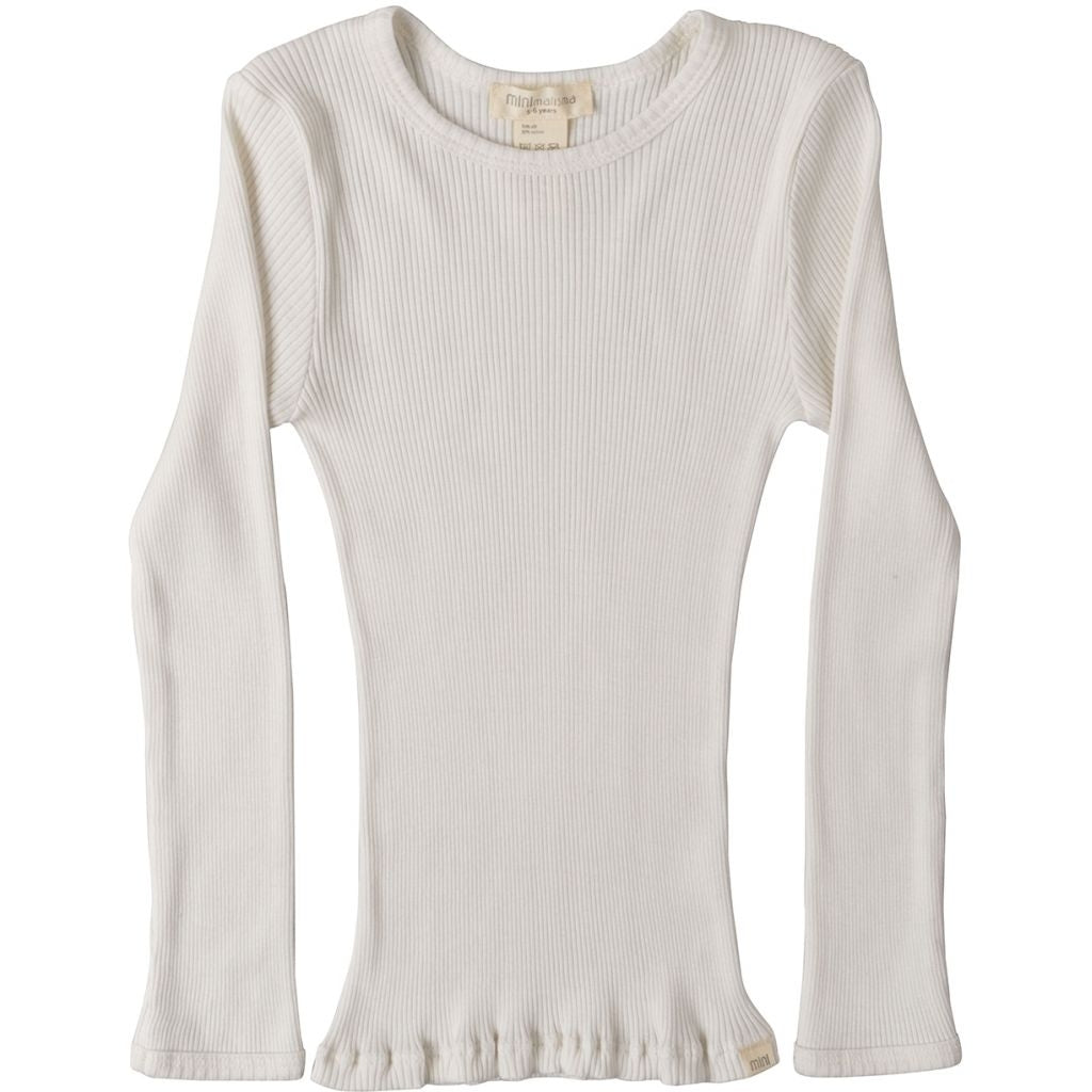 Blouse babies wear organic sustainable luxurious fashion children clothes silk seamless merino wool natural design nordic minimalisma shop sale Bergen 6-14Y Cream