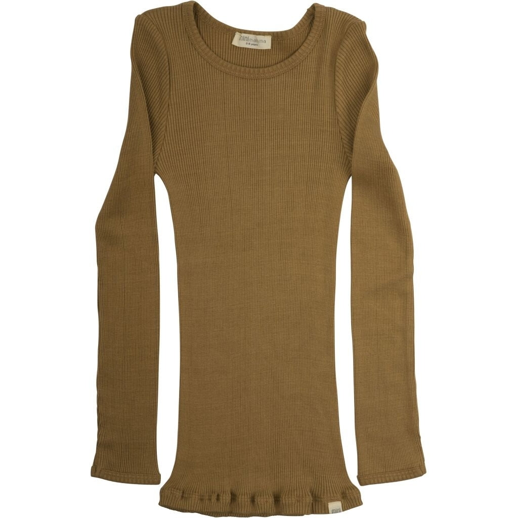 Blouse babies wear organic sustainable luxurious fashion children clothes silk seamless merino wool natural design nordic minimalisma shop sale Bergen 6-14Y Golden Leaf--18795671552073,18795671584841,18795671617609,18795671650377