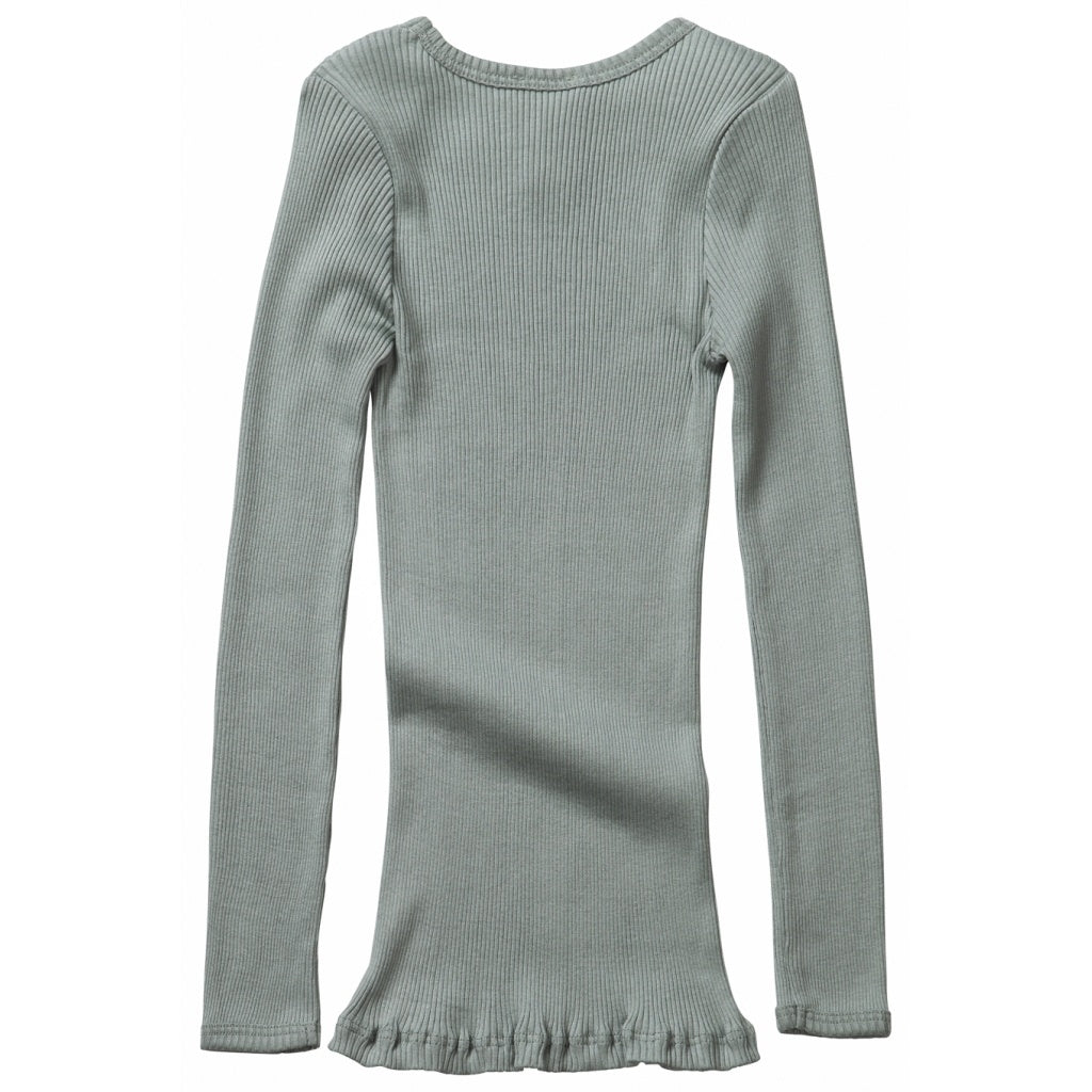 Blouse babies wear organic sustainable luxurious fashion children clothes silk seamless merino wool natural design nordic minimalisma shop sale Bergen 6-14Y Pale Jade
