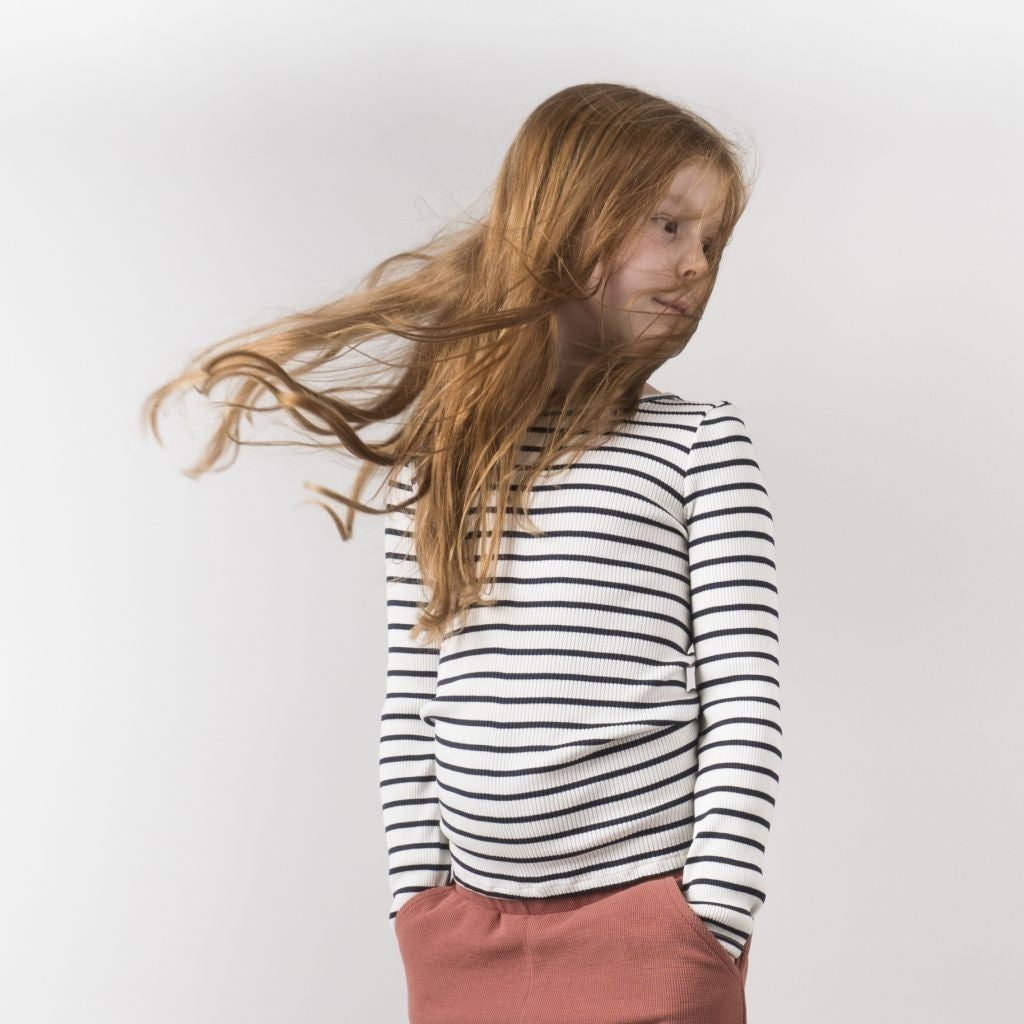 Blouse babies wear organic sustainable luxurious fashion children clothes silk seamless merino wool natural design nordic minimalisma shop sale Bergen 6-14Y Sailor