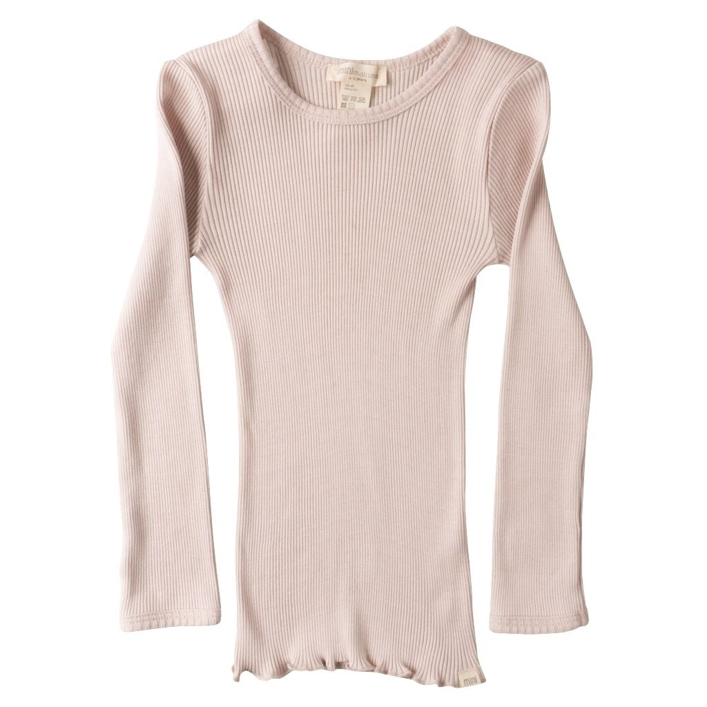 Blouse babies wear organic sustainable luxurious fashion children clothes silk seamless merino wool natural design nordic minimalisma shop sale Bergen 6-14Y Sweet Rose