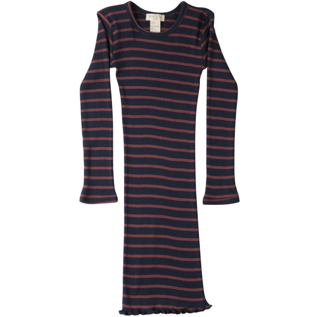 Dress babies wear organic sustainable luxurious fashion children clothes silk seamless merino wool natural design nordic minimalisma shop sale Bina 2-6Y Burnt stripes--18114360115273,18114360148041,18114360180809,18114360213577
