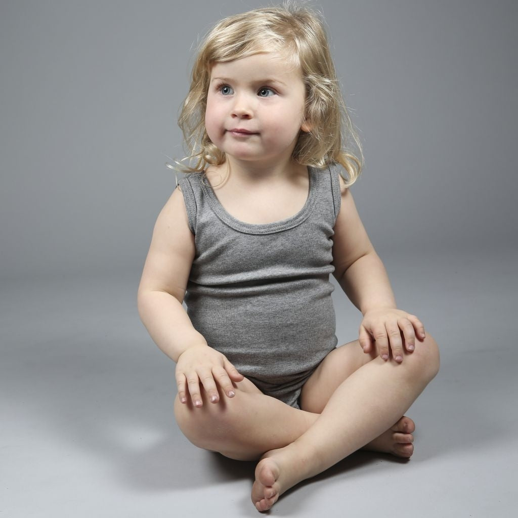 Body babies wear organic sustainable luxurious fashion children clothes silk seamless merino wool natural design nordic minimalisma shop sale Nemo Grey Melange
