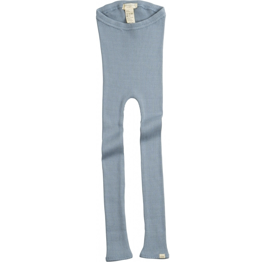 Leggings / pants babies wear organic sustainable luxurious fashion children clothes silk seamless merino wool natural design nordic minimalisma shop sale Bieber 6-14Y Grey Melange