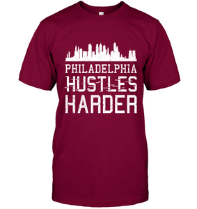 Philadelphia Hustles Harder (White Print)