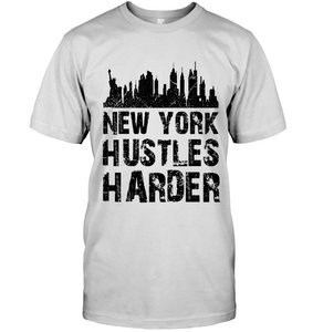 New York Hustles Harder (Black Print)