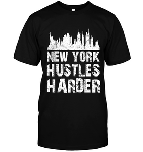 New York Hustles Harder (White Print)