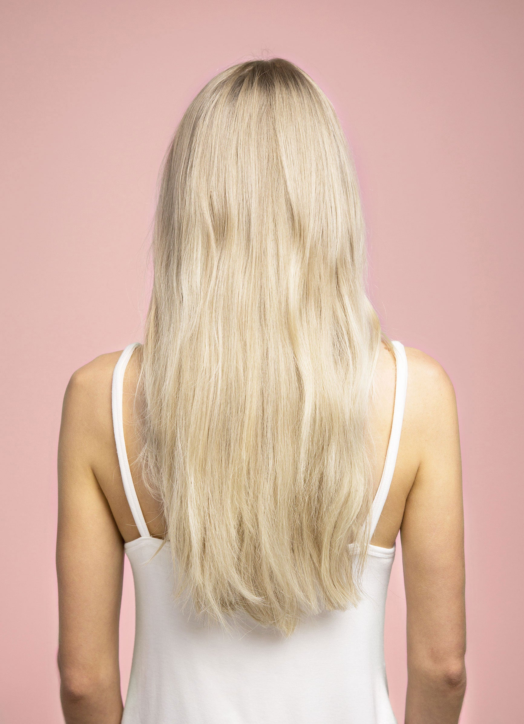 11 Baby Blonde Light Ash Blonde Joi Hair Clip In Extensions No