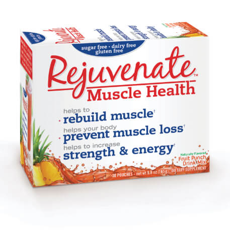 Rejuvenate Muscle Health front of packaging for Fruit Punch flavor.