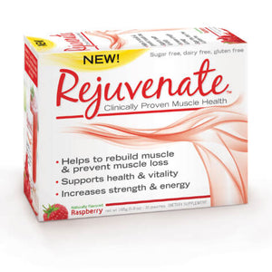 Rejuvenate Muscle Health front of packaging for Raspberry flavor