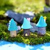 Vintage Blue House Miniature