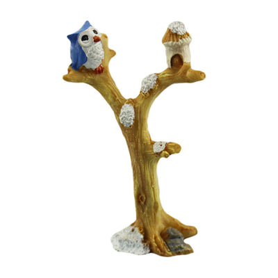 Artificial Branches Owl Decoration