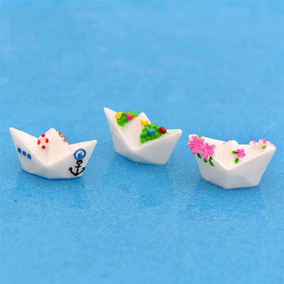 Paper Boat Garden Decoration