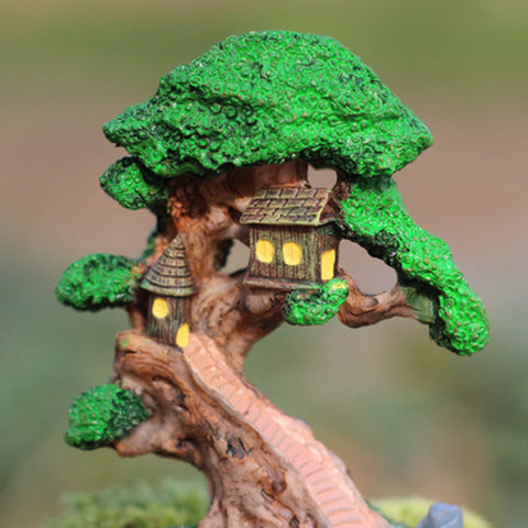 Mini Elf Tree House Garden Decor