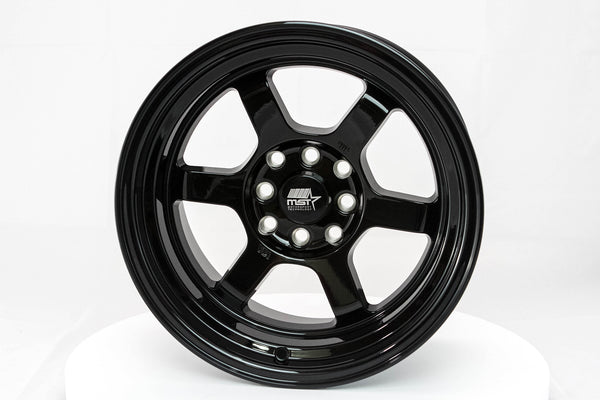Time Attack - Glossy Black - 15x8.0 4x100/4x114.3 Offset +0