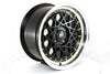 Fiori - Black w/Machined Lip Gold Rivets - 15x8.0 4x100 Offset +20