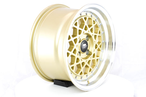 Fiori - Gold w/Machined Lip - 15x8.0 4x100 Offset +20