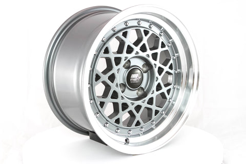 Fiori - Gunmetal w/ Machined Lip - 15x8.0 4x100 Offset +20