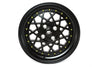 Fiori - Matte Black w/Gold Rivets - 15x8.0 4x100 Offset +20