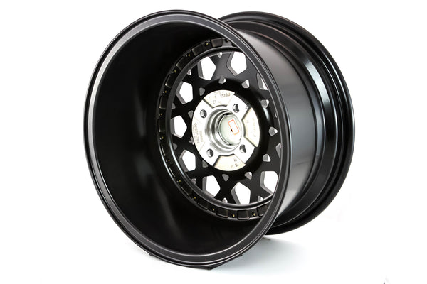 Fiori - Matte Black w/ Gold Rivets - 15x8.0 4x100 Offset +20