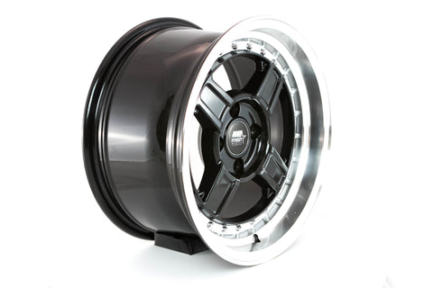 Kunai - Black w/ Machined Lip - 15x8.0 4x100 Offset +20