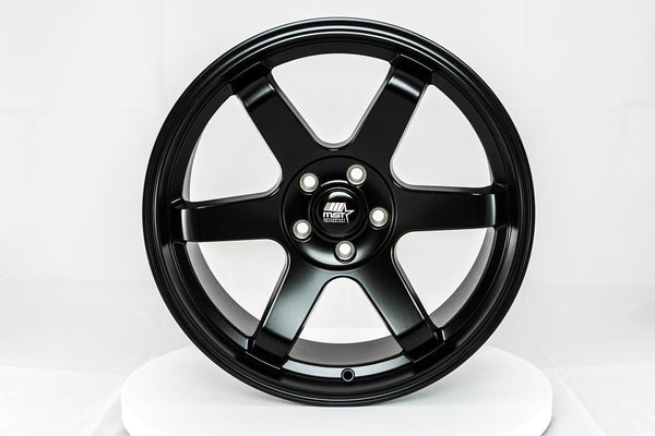 MT01 - Matte Black - 18x8.5 5x108 Offset +35