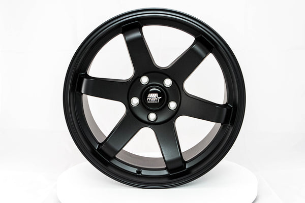 MT01 - Matte Black - 18x9.5 5x100 Offset +35