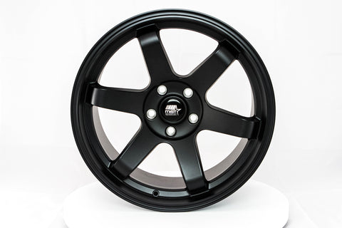 MT01 - Matte Black - 18x9.5 5x114.3 Offset +35