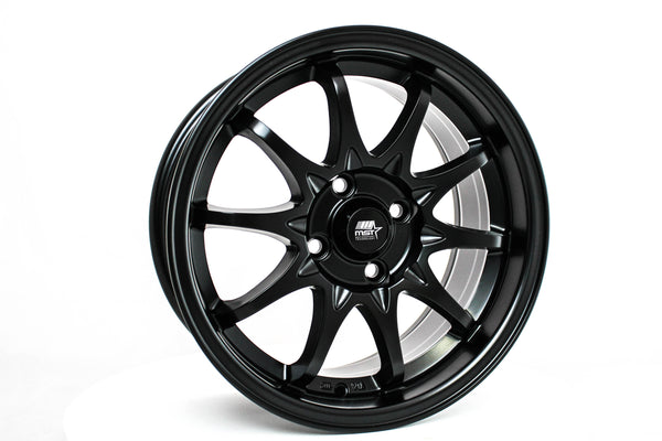 MT04 - Matte Black - 15X7.0 4X100 Offset +35