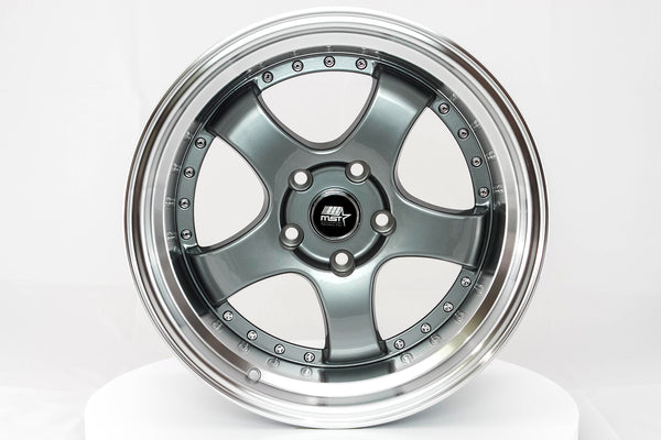 MT07 - Gunmetal w/Machined Lip - 17x9.0 5x114.3 Offset +20