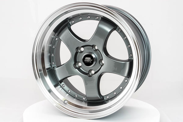 MT07 - Gunmetal w/ Machined Lip - 17x9.0 5x114.3 Offset +20
