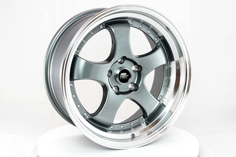 MT07 - Gunmetal w/ Machined Lip - 18x9.5 5x114.3 Offset +20