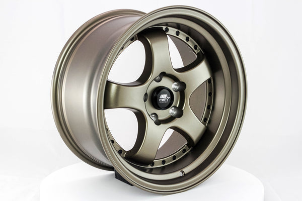 MT07 - Matte Bronze w/ Black Rivets - 17x9.0 5x114.3 Offset +20