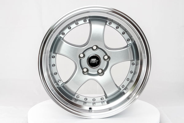 MT07 - Silver w/ Machined Lip - 17x9.0 5x114.3 Offset +20