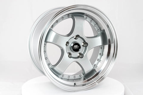 MT07 - Silver w/Machined Lip - 17x9.0 5x114.3 Offset +20