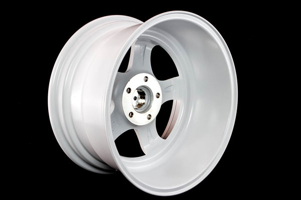 MT07 - White w/ Machined Lip and Gold Rivets - 17x9.0 5x114.3 Offset +20