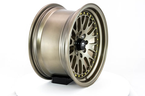 MT10 - Bronze with Gold Rivets - 15x8.0 4x100/4x114.3 Offset +25