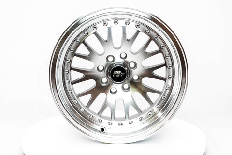 MT10 - Silver w/Machined Face - 15x8.0 4x100/4x114.3 Offset +25