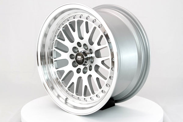 MT10 - Silver w/Machined Face and Chrome/Gold Rivets - 16x8.0 5x100/5x114.3 Offset +20