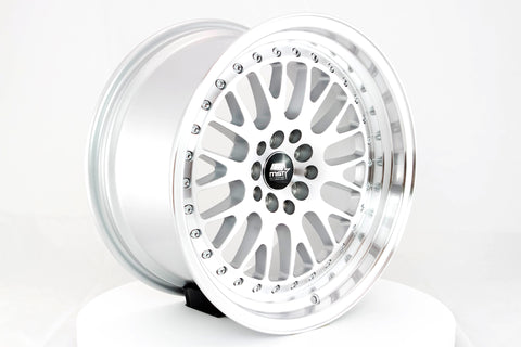 MT10 - Silver w/Machined Face - 17x9.0 5x100/5x114.3 Offset +20
