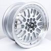 MT10 - Silver w/Machined Face - 15X7.0 5x100/5x114.3 Offset +20